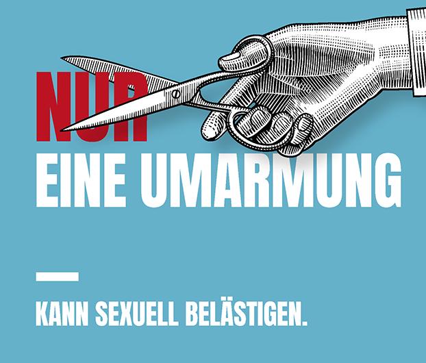 nur eine Umarmung - sexuelle Belästigung am Arbeitsplatz - ADS