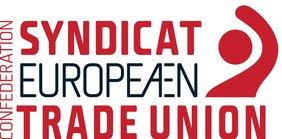 Logo des Europäischen Gewerkschaftsbund. ETUC für European Trade Union Confederation