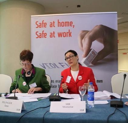 Konferenzeröffnung durch Montserrat Mir EGB-Vorstandsmitglied