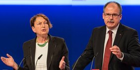 Annelie Buntenbach und Stefan Körzell