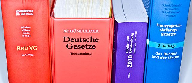 Bücher mit Gesetzestexten